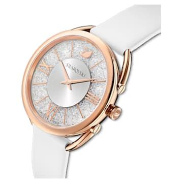 Orologio Crystalline Glam, Cinturino in pelle, bianco, PVD oro rosa - Swarovski, 5452459
