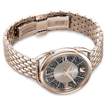 Crystalline Glam 腕表, 金属手链, 灰色, 香槟金色调 PVD - Swarovski, 5452462