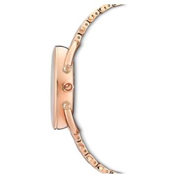 Crystalline Glam watch, Metal bracelet, Rose gold tone, Rose-gold tone PVD - Swarovski, 5452465