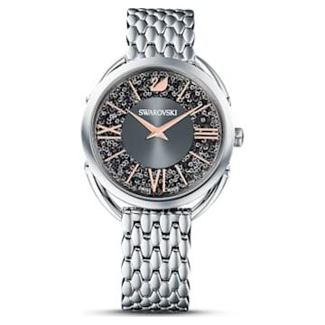 Zegarek Crystalline Glam, bransoleta z metalu, szary, stal nierdzewna - Swarovski, 5452468