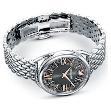 Ceas Crystalline Glam, brățară de metal, gri, oțel inoxidabil - Swarovski, 5452468