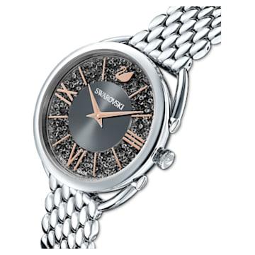 Ρολόι Crystalline Glam, μεταλλικό μπρασελέ, γκρι, ανοξείδωτο ατσάλι - Swarovski, 5452468