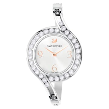 Lovely Crystals Bangle Uhr, Metallarmband, weiss, Edelstahl - Swarovski, 5452492