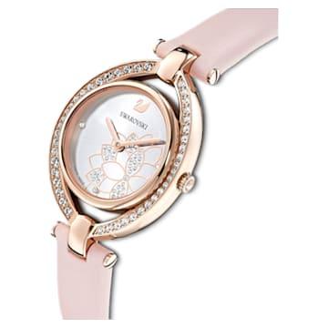Stella Uhr, Lederarmband, rosa, Rosé vergoldetes PVD-Finish - Swarovski, 5452507