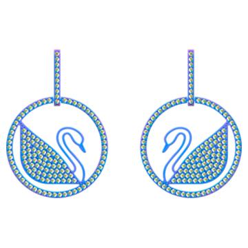 Pop Swan Pierced earrings, Purple, Lilac PVD coating - Swarovski, 5452633