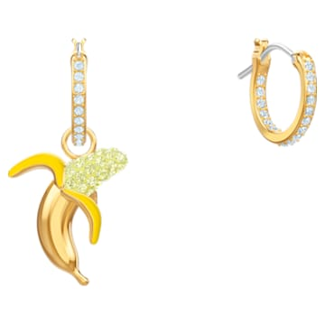 No Regrets Banana Pierced Earrings, Multi-coloured, Gold-tone plated - Swarovski, 5453571