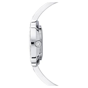 Lovely Crystals Bangle 手錶, 金屬手鏈, 白色, 不銹鋼 - Swarovski, 5453655