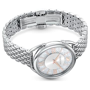 Montre Crystalline Glam, Bracelet en métal, blanc, acier inoxydable - Swarovski, 5455108