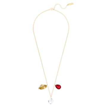 Prisma Necklace, Multi-coloured, Gold-tone plated - Swarovski, 5456602