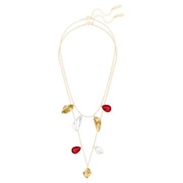 Prisma Versatile Necklace, Multi-coloured, Gold-tone plated - Swarovski, 5456603
