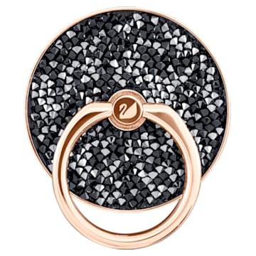 Glam Rock 戒指贴扣, 黑色, 鍍玫瑰金色調 - Swarovski, 5457469