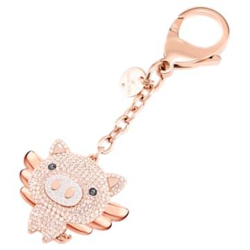 Zawieszka na torebkę Little Pig, różowa, różne powłoki - Swarovski, 5457471