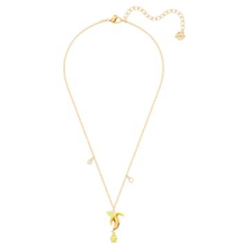 No Regrets Banana pendant, Multicolored, Gold-tone plated - Swarovski, 5457504