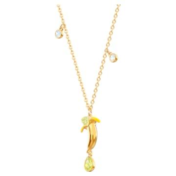 No Regrets Banana Pendant, Multi-coloured, Gold-tone plated - Swarovski, 5457504
