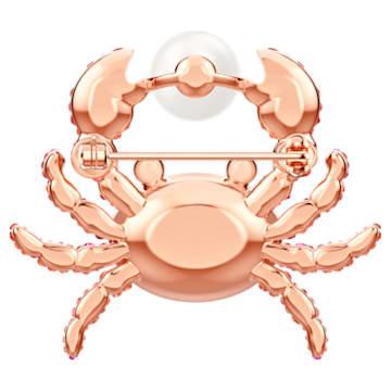 Ocean Crab Brosche, mehrfarbig, Rosé vergoldet - Swarovski, 5457571