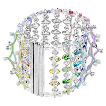 Neon Bracelet, Multi-coloured, Rhodium plated - Swarovski, 5458984