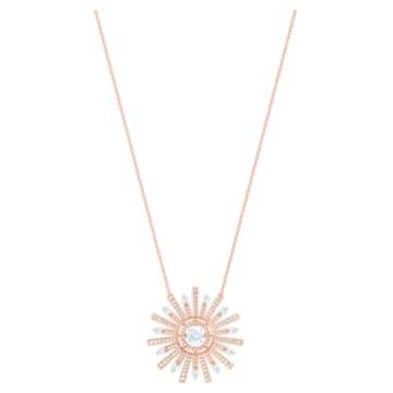Collier Sunshine, blanc, Métal doré rose - Swarovski, 5459593