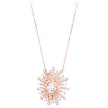 Collar Sunshine, blanco, Baño en tono Oro Rosa - Swarovski, 5459593
