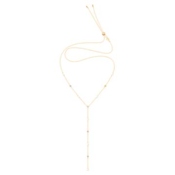 No Regrets Y形项链, 彩色设计, 镀金色调 - Swarovski, 5459612