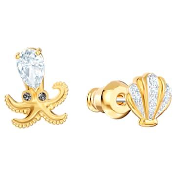 Boucles d'oreilles Ocean Octopus, multicolore, combinaison de métaux plaqués - Swarovski, 5462583