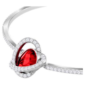 Outstanding Set, Red, Rhodium plated - Swarovski, 5463761