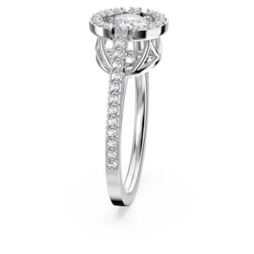 Swarovski Sparkling Dance ring, Round, White, Rhodium plated - Swarovski, 5465280