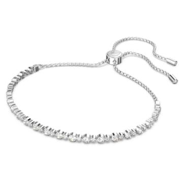 Subtle Armband, weiss, Rhodiniert - Swarovski, 5465384