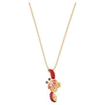 Ocean Crab Anhänger, Mehrfarbig, Goldlegierungsschicht - Swarovski, 5465940