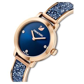 Orologio Cosmic Rock, Bracciale di metallo, azzurro, PVD oro rosa - Swarovski, 5466209