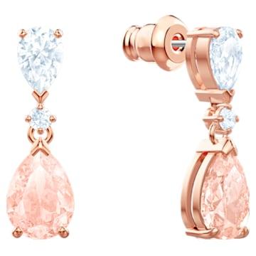 Orecchini Vintage, rosa, Placcato oro rosa - Swarovski, 5466888