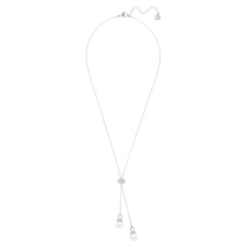 Collier en Y Originally, blanc, Métal rhodié - Swarovski, 5467313