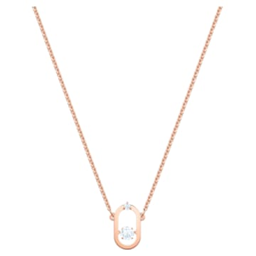 North Necklace, White, Rose-gold tone plated - Swarovski, 5468084