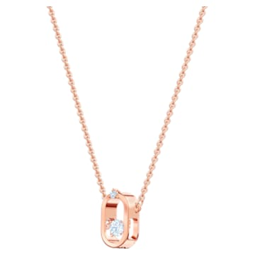 North Колье, Белый Кристалл, Покрытие оттенка розового золота - Swarovski, 5468084