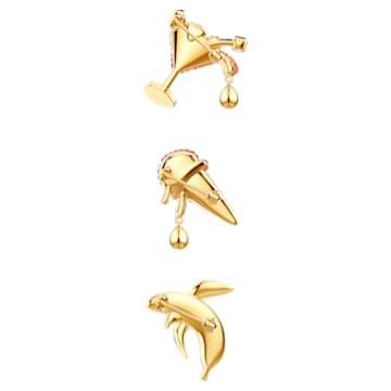No Regrets Brooch Set, Mehrfarbig, Goldlegierungsschicht - Swarovski, 5468254