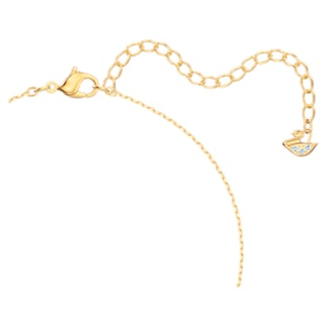 Out of this world necklace, Unicorn and rainbow, Multicolored, Gold-tone plated - Swarovski, 5468314