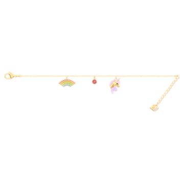 Out of this world 手鏈, 獨角獸和彩虹, 漸層色, 鍍金色色調 - Swarovski, 5468316
