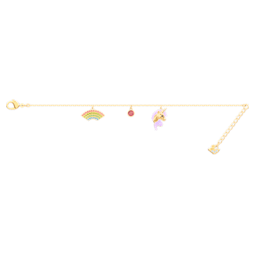 Out of this World Unicorn Bracelet, Multi-colored, Gold-tone plated - Swarovski, 5468316