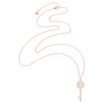 Swarovski Sparkling Dance Key Anhänger, weiss, Rosé vergoldet - Swarovski, 5469120