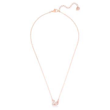 Dazzling hattyú nyaklánc, többszínű, rozéarany árnyalatú bevonattal - Swarovski, 5469989