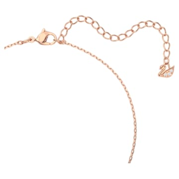 Κολιέ Dazzling Swan, πολύχρωμο, επιχρυσωμένο σε χρυσή ροζ απόχρωση - Swarovski, 5469989
