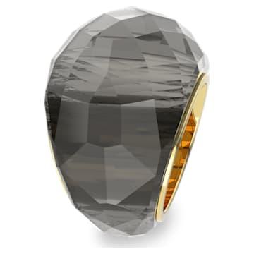 Prsten Nirvana Swarovski, šedý, pozlacený PVD - Swarovski, 5470027