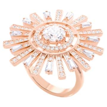 Sunshine Cocktail 戒指, 白色, 鍍玫瑰金色調 - Swarovski, 5470397