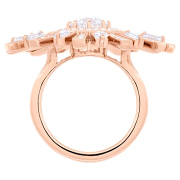 Sunshine Cocktail Ring, weiss, Rosé vergoldet - Swarovski, 5470397