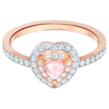 One 戒指, 多色設計, 鍍玫瑰金色調 - Swarovski, 5470690