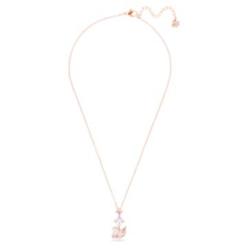 Dazzling Swan Y-Halskette, Schwan, Rosa, Roségold-Legierungsschicht - Swarovski, 5473024