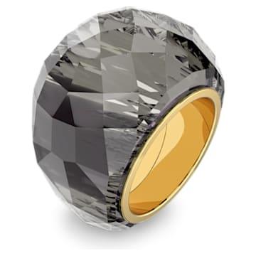 Prsten Nirvana Swarovski, šedý, pozlacený PVD - Swarovski, 5474357