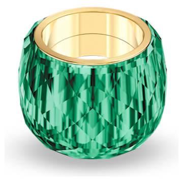 Prsten Nirvana Swarovski, zelený, pozlacený PVD - Swarovski, 5474365