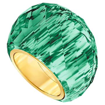 Anillo Swarovski Nirvana, verde, PVD en tono oro - Swarovski, 5474365