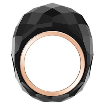 Pierścionek Nirvana Swarovski, czarny, powłoka PVD w odcieniu różowego złota - Swarovski, 5474366