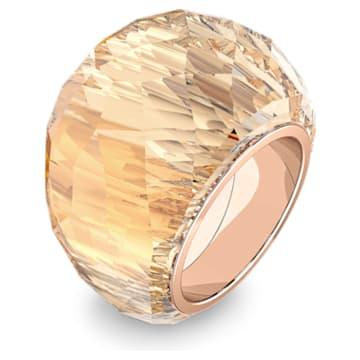 Prsten Swarovski Nirvana, zlatý odstín, pozlacený růžovým zlatem PVD - Swarovski, 5474378
